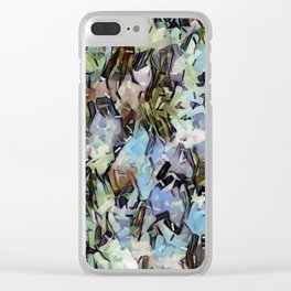 Abstract Confetti Landscape Clear iPhone Case