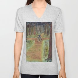 The Watcher at the Crossroads Unisex V-Neck
