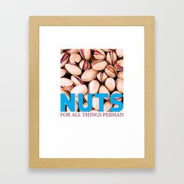 Nuts for all Things Persian Framed Art Print