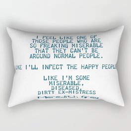 Dirty ex-mistress Rectangular Pillow