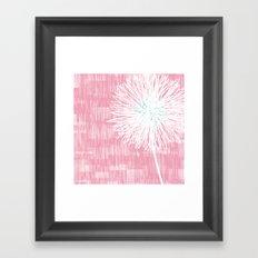 Pink Doodle Floral by Friztin Framed Art Print