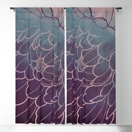 mystic dark peony flower Blackout Curtain