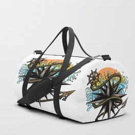 Nautical Splash Duffle Bag