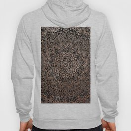 Mandala - rose gold and black marble 3 Hoody
