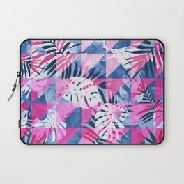 Abstract Hot Pink Geometric Tropical Design Laptop Sleeve