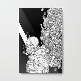 Paper Wings Metal Print