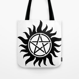 Anti Possession Sigil Black Tote Bag