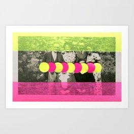 Shy Group Art Print