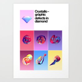 Crystallographic defects in diamond Art Print