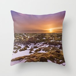 ICELAND Skaftáreldahraun Lava Field Throw Pillow