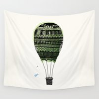 hot air balloon Wall Tapestries featuring Hot Air Balloon by THEO TECKNAR