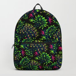 Cactus Floral - Bright Green/Pink Backpack