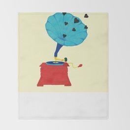 Gramophone Love Throw Blanket