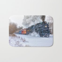 North Pole Express Train (Steam engine Pere Marquette 1225) Bath Mat
