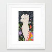 llama Framed Art Prints featuring Llama by tascha