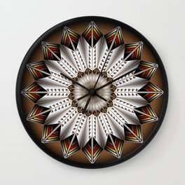Feather Design Wall Clock