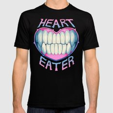 heart eater LARGE Mens Fitted Tee Black