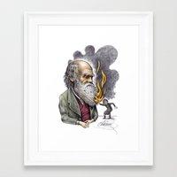 darwin Framed Art Prints featuring Darwin by ElenaTerrin
