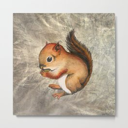 Sciurus (Baby Squirrel) Metal Print