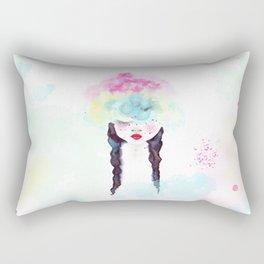 Creative mind Creative soul - watercolors girl Rectangular Pillow