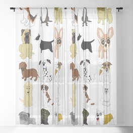 Pet dogs design Sheer Curtain