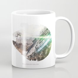 Star War Millennium Falcon - Wall Art, Poster, Print, Watercolor, Fine Art, Series 1 of 6 Coffee Mug