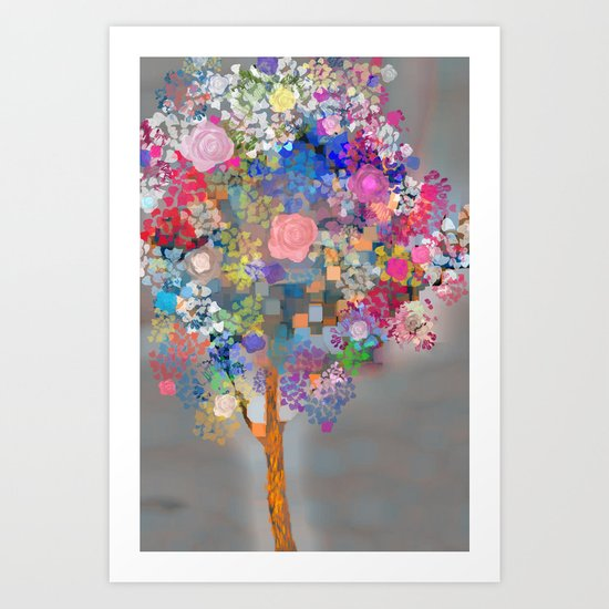 Floral abstract(56) Art Print