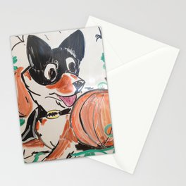 Corgi Halloween Stationery Cards