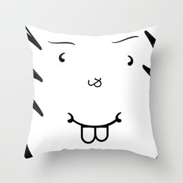 Type Face Throw Pillow