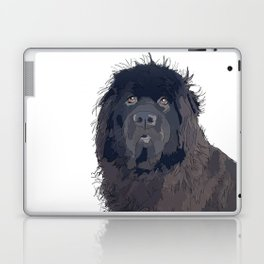 Newfoundland Dog (black) Laptop & iPad Skin