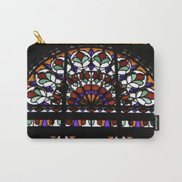 Colorful Rainbow Stain Glass Persian Window Art Carry-All Pouch
