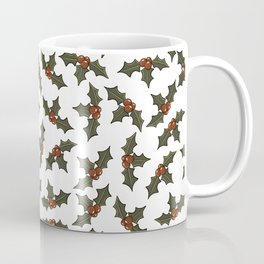 Holly with Berries, repeat pattern Coffee Mug