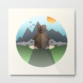 Lonely Bear Metal Print