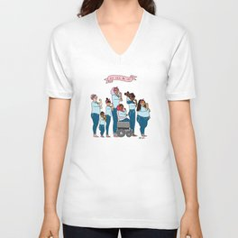 Intersectional Rosie the Riveter Unisex V-Neck