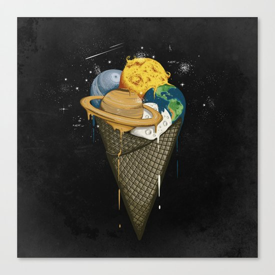 Galactic Ice Cream Canvas Print