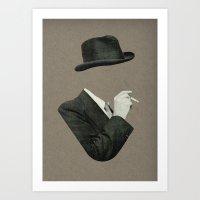 smoke Art Prints featuring Smoke by Lerson