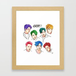 GOT7 Colourful Framed Art Print