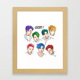 GOT7 Colourful Framed Art Print