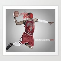 Rose - #s in the Paint Art Print
