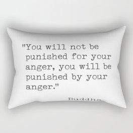 Buddha typed quotes Rectangular Pillow