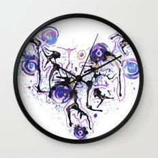 Watercolor Necklace Wall Clock