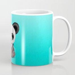 Cute Baby Panda Playing With Basketball Coffee Mug