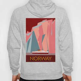 Norway fjords retro vintage style travel Hoody