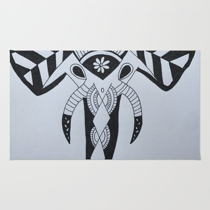Zentangle Elephant Rug