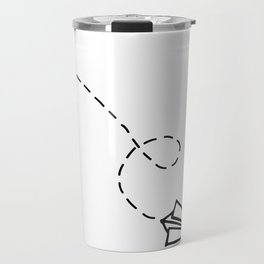 Send It // Simple Paper Airplane Drawing Travel Mug