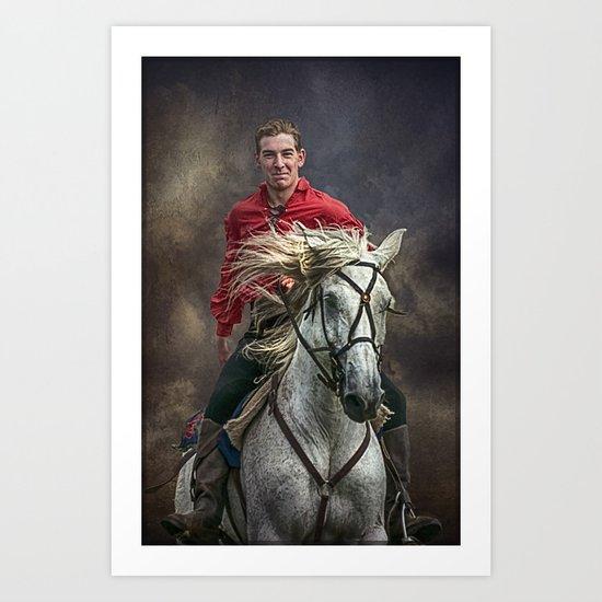 The Happy Hussar Art Print