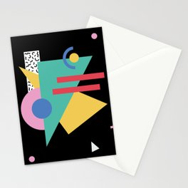 Memphis pattern 47 - 80s / 90s Retro Stationery Cards