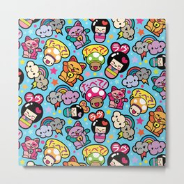 Harajuku Love Metal Print