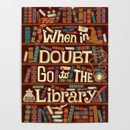 Go to the library Poster