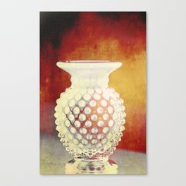 Hobnail -- Still Life with Vintage Vase Canvas Print